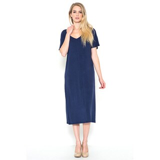 JED Women's V-neck Casual T-shirt Midi Dress