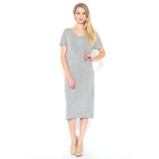JED Women's V-neck Casual T-shirt Midi Dress