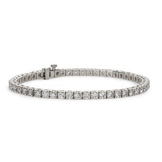 Suzy Levian 5.00 ct TDW 14K White Gold Diamond Tennis Bracelet