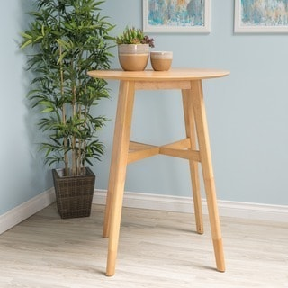 Tenley Natural Finish Wood Bar Table by Christopher Knight Home