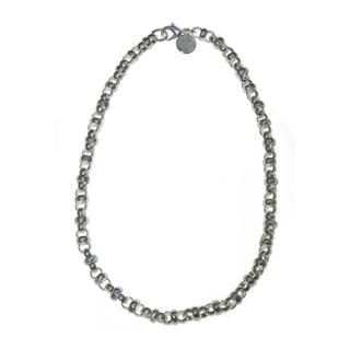 Isla Simone - Fine Silver Plated Interlocking Rolo Link Necklace