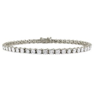 Suzy Levian 6.02 ct TDW 14K White Gold Diamond Tennis Bracelet (G-H, SI3-I1)