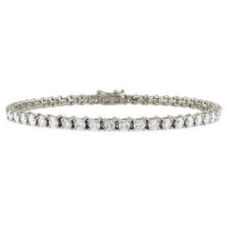 Suzy Levian 6.02 ct TDW 14K White Gold Diamond Tennis Bracelet