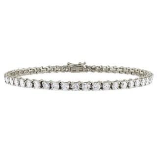 Suzy Levian 6.01 ct TDW 14K White Gold Diamond Tennis Bracelet
