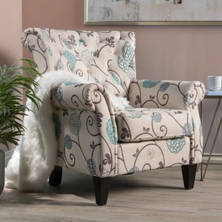 Link to Merritt Floral Fabric Tufted Club Chair by Christopher Knight Home Similar Items in Accent Chairs