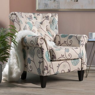 Christopher Knight Home Merritt Floral Fabric Tufted Club Chair