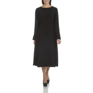 Giovanna Signature Women's Machine Washable Long Sleeve Plain Dress