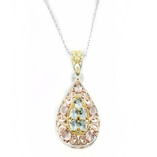 One-of-a-kind Michael Valitutti Morganite and Aquamarine Pendant