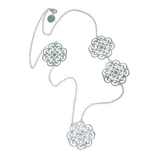 Isla Simone - Fine Silver Plated Long Clover Fashion Necklace|https://ak1.ostkcdn.com/images/products/12882668/P19642058.jpg?impolicy=medium