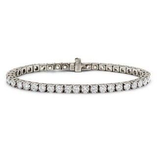 Suzy Levian 7.00 ct TDW 14K White Gold Diamond Tennis Bracelet (J-K, VVS2-VS1)