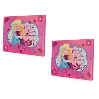 Disney Frozen Sisters Forever Two LED Canvas Wall Hanging (Set of 2)