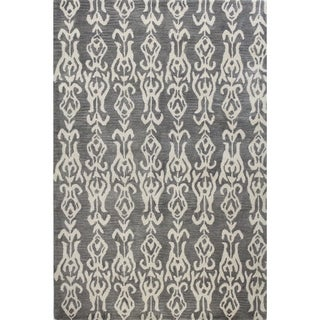 Ava Grey Cotton Tufted Area Rug (9' x 12')