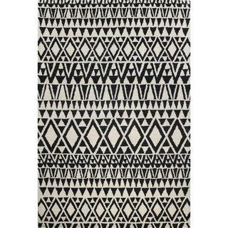 Ana Ivory/Black Tufted Wool Area Rug (8' x 10')