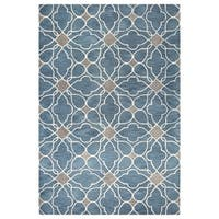 Kiara Grey/Blue Tufted Wool Area Rug - 9' x 12'
