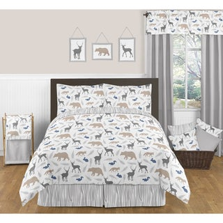 Sweet JoJo Designs Woodland Animals Full/ Queen-size 3-piece Comforter Set
