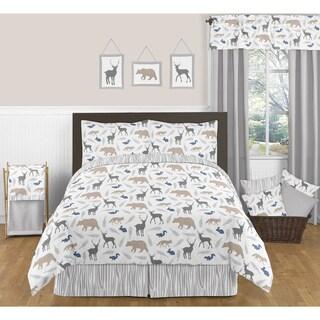 Sweet JoJo Designs Woodland Animals Full/ Queen-size 3-piece Comforter Set