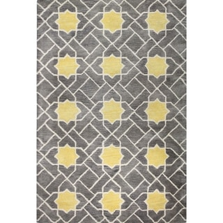 Tufted Grey/Yellow Heather Area Rug (9' x 12')