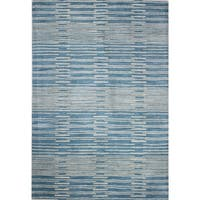 "Mya Blue/Grey Wool Tufted Area Rug - 8'6"" x 11'6"""