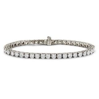 Suzy Levian 7.02 ct TDW 14K White Gold Diamond Tennis Bracelet (J-K, VVS2-VS1)