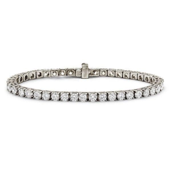 Shop Suzy Levian 7 02 ct TDW 14K White Gold Diamond Tennis