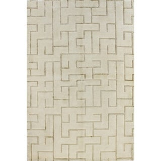 Diamond Wool/Viscose Hand-knotted Area Rug (9' X 12')
