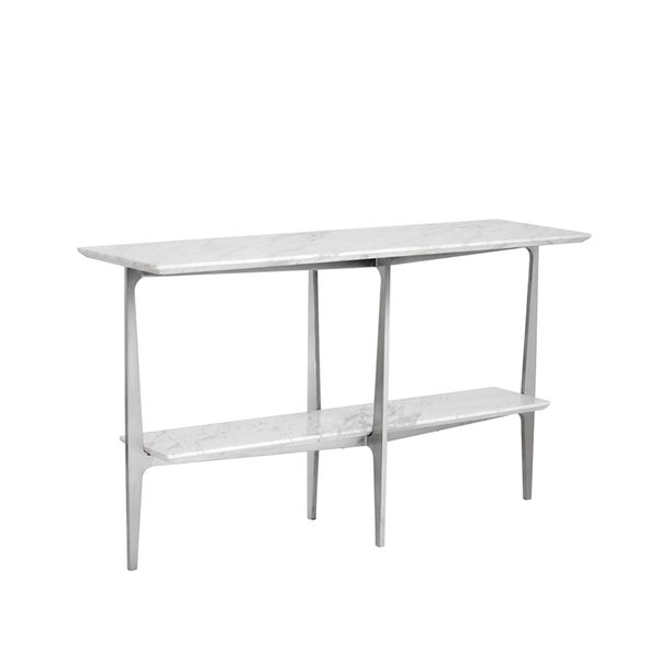 Good Clearwater White Marble Console Table