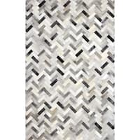 Adam Woven Leather Area Rug - 9' x 12'