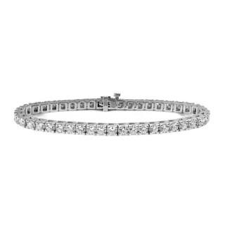 Suzy Levian 8.03 ct TDW 14K White Gold Diamond Tennis Bracelet