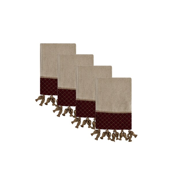 Sherry Kline Antoinette Ecru Fingertip Towel (set of 4)