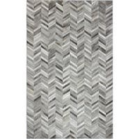 Richard White/Grey Cowhide Area Rug - 8' x 10'