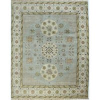Paige Multicolor Knotted Wool Area Rug - 8' x 10'