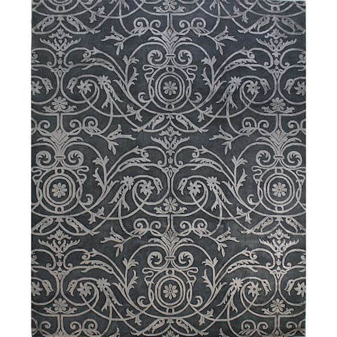 Munsey Contemporary Hand Knotted Area Rug