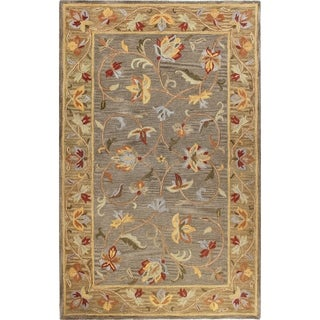 "Hand-tufted Carol Grey Wool Area Rug (7'6 x 9'6) - 7'6"" x 9'6"""