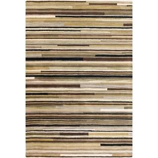 Hand-tufted Loren Beige Wool Area Rug (9' x 12')