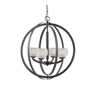 Woodbridge Lighting 14320MEB Mirage 4-light Pendant Chandelier
