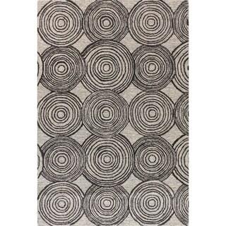 """Alexandria Grey Wool Tufted Area Rug (7'6 x 9'6) - 7'6"""" x 9'6"""""""