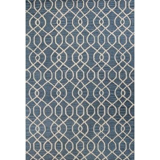 Jade Navy/Teal Cotton Area Rug (9' x 12')