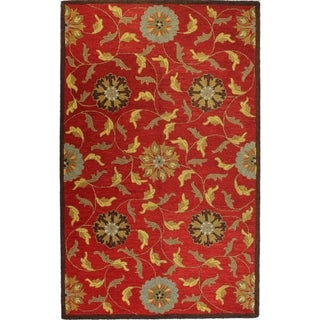 "Jennifer Multicolor Wool Tufted Area Rug (7'6 x 9'6) - 7'6"" x 9'6"""