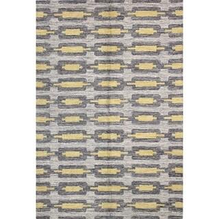 """Morgan Grey Wool Tufted Area Rug (7'6 x 9'6) - 7'6"""" x 9'6"""""""