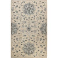 Sarina Blue and Ivory Wool Tufted Area Rug - 4' x 6'