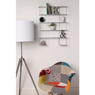 Kate and Laurel Tetbury Metal Geometric Floating Wall Shelves