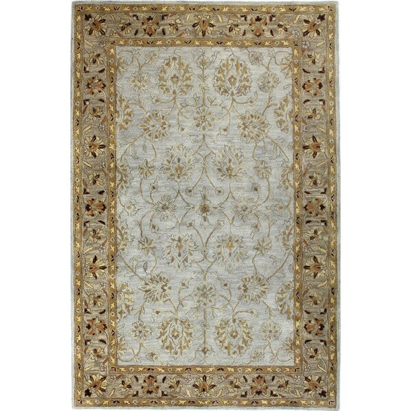 Kimberly Light Blue Wool Tufted Area Rug (4' x 6')