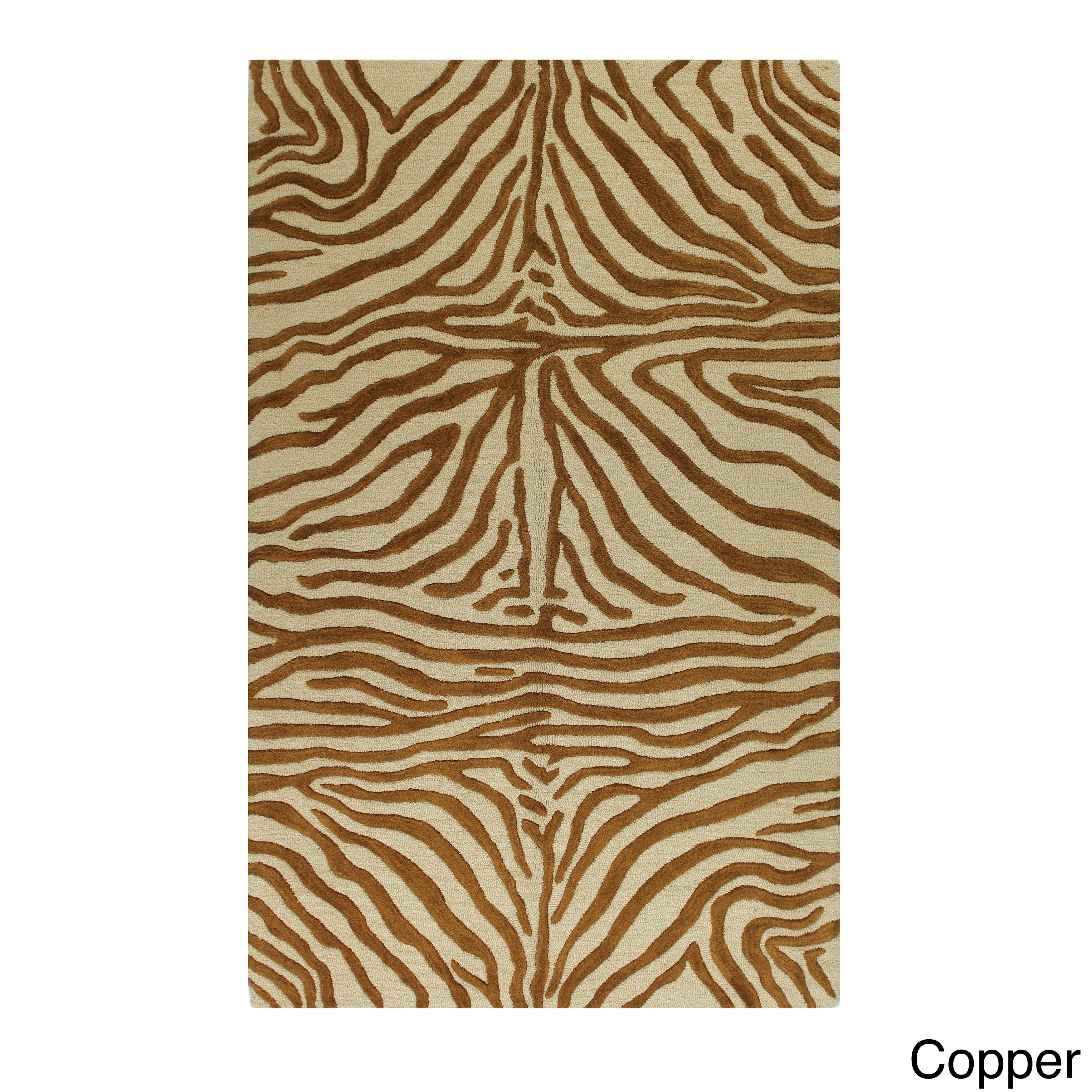 Windward Marissa Animal-print Tufted Wool Area Rug (4' X ...