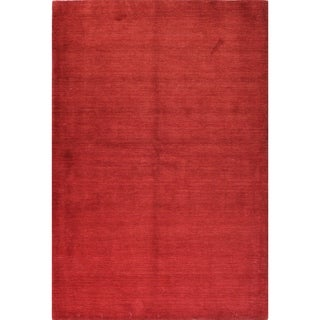 Grace Red Hand-woven Wool Area Rug (9' x 12')