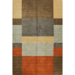 Kayla Multicolor Wool Hand-woven Area Rug (8' x 10')