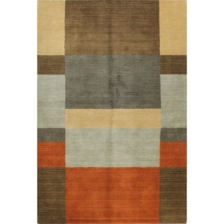 Kayla Multicolored Wool/Cotton Woven Area Rug (9' x 12')