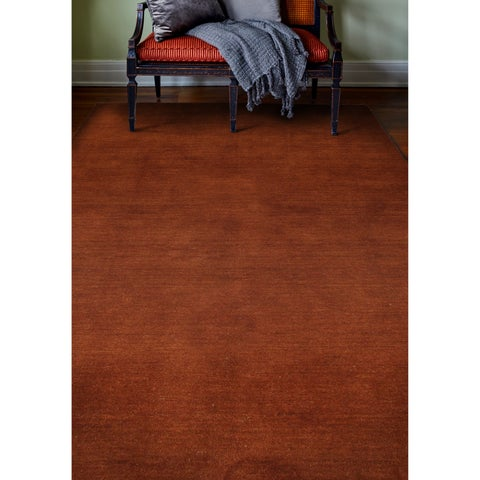"Bria Rust Red Wool Woven Area Rug - 7'6"" x 9'6"""