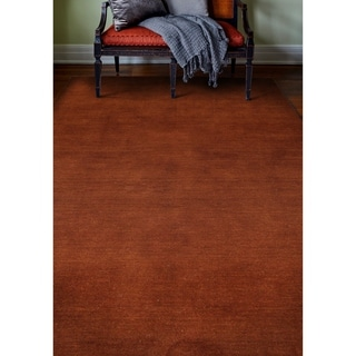 Bria Rust Red Wool Woven Area Rug (8' x 10') - 8' x 10'
