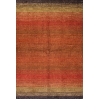 Brianna Red/Black/Light Blue Cotton/Wool Woven Area Rug (8' x 10')