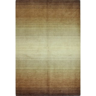 Robin Ombre Stripe Wool Hand-woven Area Rug (9' X 12')